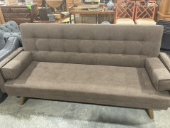 Canas 82'' Linen Square Arm Sofa Bed