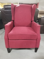 Red Upholstered Manual Recliner