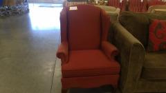 Burgundy Accent Chair Vintage