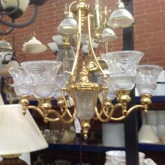 Brass Chandelier - LAMPS\/FIXTURES