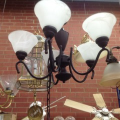Black Chandelier - LAMPS\/FIXTURES