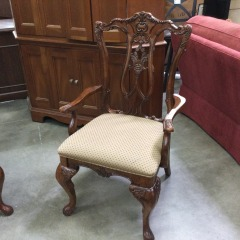 Carved Chippendale Arm Chair - GENTLY USED FURNITURE