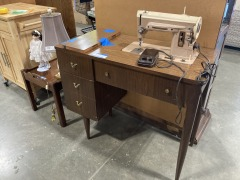 Singer Sewing Machine Table (With Machine)