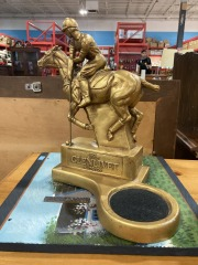 Vtg. Glenlivet Scotch Polo Player Bar Display Statue by Carter Jones 9\/81