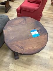 PINE DROP-LEAF END TABLE