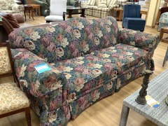 FLORAL ARCH BACK SOFA