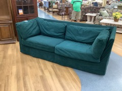 FOREST GREEN SOFA