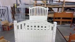 White Twin Bedframe