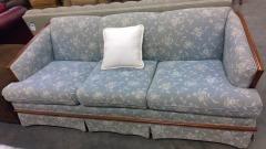 Light Blue Floral Sofa