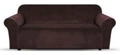 NEW 1 Piece Microsuede Velvet Touch Sofa Slip Cover - Brown