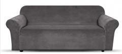 NEW 1 Piece Microsuede Velvet Touch Sofa Slip Cover - Grey