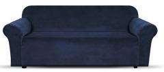 NEW 1 Piece Microsuede Velvet Touch Sofa Slip Cover - Navy