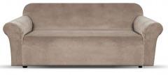 NEW 1 Piece Microsuede Velvet Touch Sofa Slip Cover - Beige