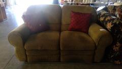 Taupe Suede Comfort Sofa