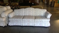 Ivory Floral Sofa