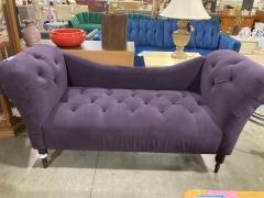 Akshay Velvet Sofa in Purple