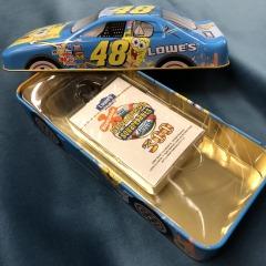 Lowe\u2019s Nickelodeon Sponge Bob Squarepants Racing Car Tin with Cards -HOUSEWARES
