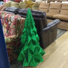Lighted Christmas Tree - green foil - HOUSEWARES