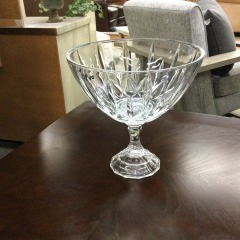 Lead Crystal Footed Bowl - HOUSEWARES