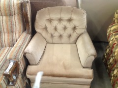 Mink Brown Small Club Chair (AS IS) - GENTLY USED FURNITURE