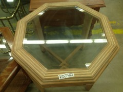 Glass Top Octagonal Table - GENTLY USED FURNITURE