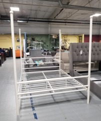 White Metal Queen Bed Frame