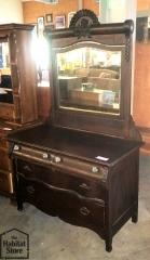Vintage Mahogany Dresser w\/Mirror