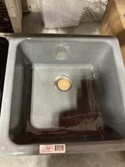 Gray Cast Iron Kitchen Sink