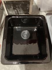 Black Cast Iron Kitchen Sink