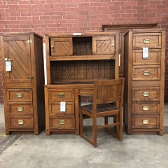 Young-Hinkle Student Desk and Chair with Hutch  (3 piece set) - BETTER\/NEW FURNITURE