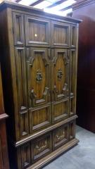 Vintage Design Brown Armoire\/Drawers