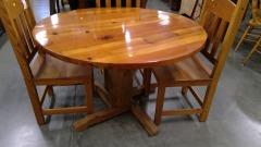 Circle Wood Table