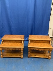 DOUBLE SIDED DRAW END TABLE