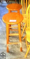 set of 2 wooden stools