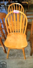 Set of 2 Slatback Dining Chairs