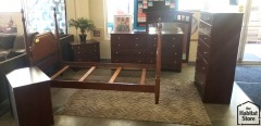 5 Pc Cherry Finished Bedroom Set