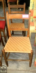 Set of 2  Woven chairs