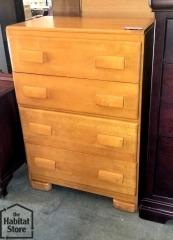 Maple 4 Drawer Dresser