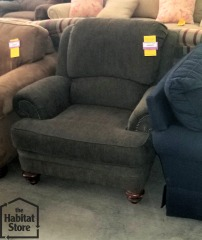 Gray Over-stuffed Chair