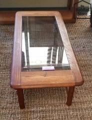 glass & oak 2 tier Coffee Table