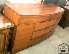 Mid Century Curved Front Buffet