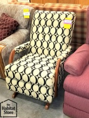 Black & Cream Rocking  Chair