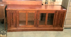 6ft Wide Curved Front Low Entertainment Centre