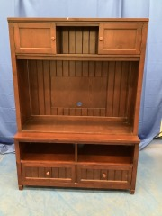 TV STAND WITH HUTCH TOP