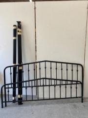 GENTLY USED King Metal Bed Frame